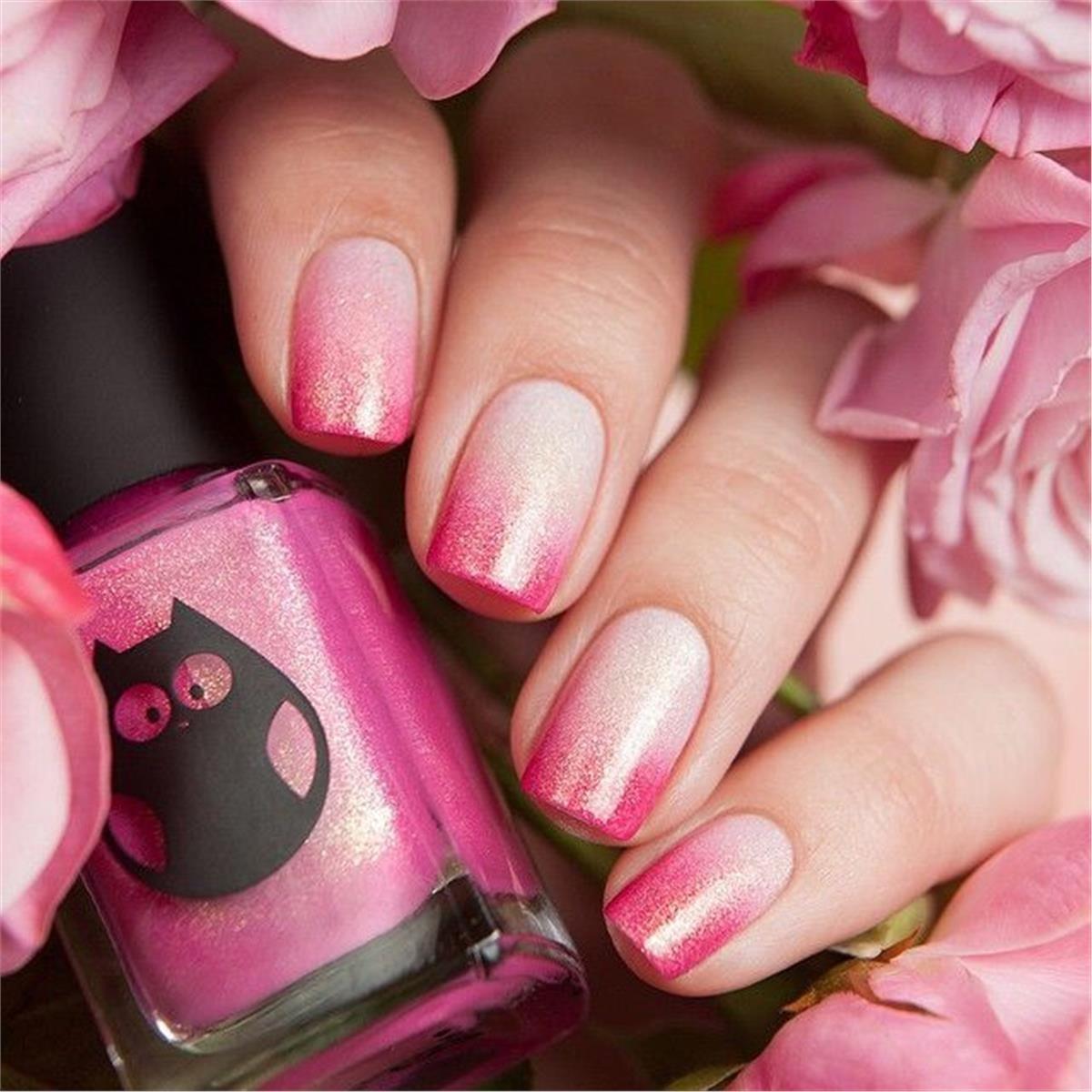 Красивые розовые ногти фото
