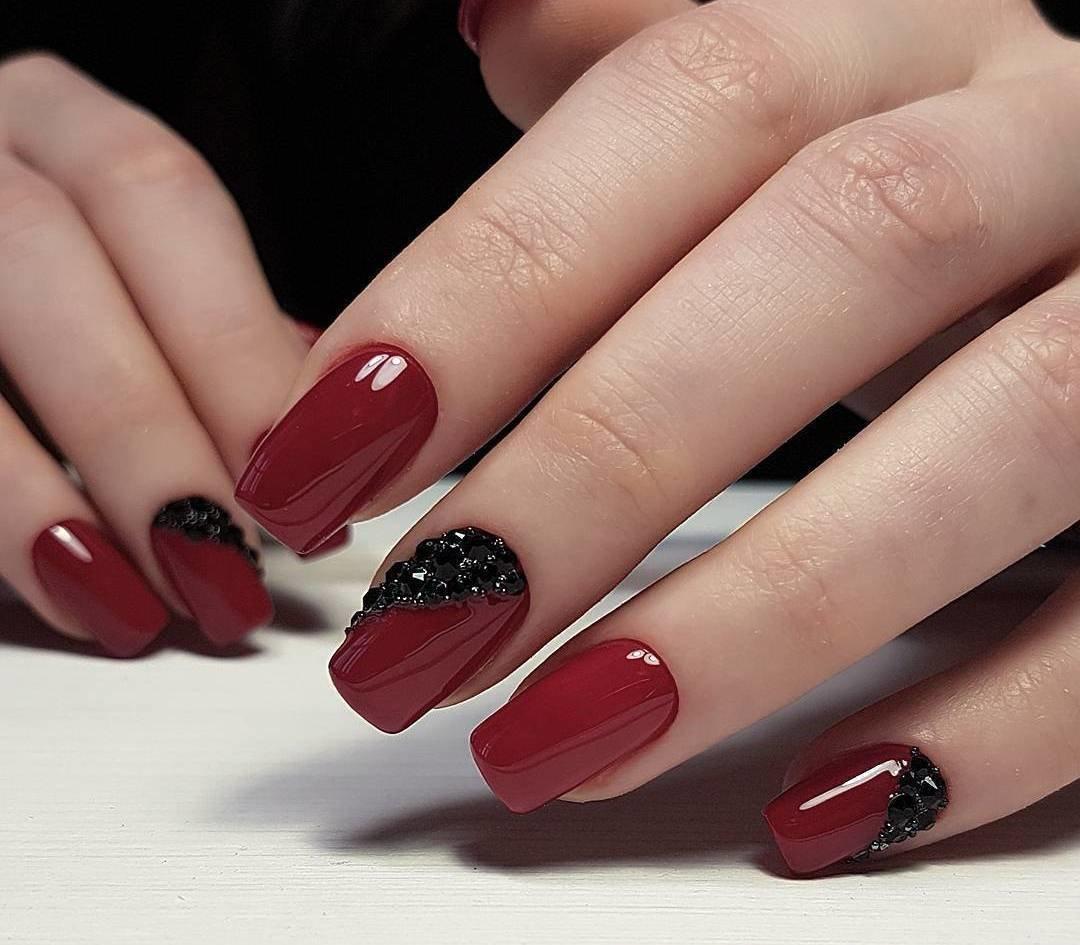 дизайн ногтей красного цвета фото новинки подмосковном солнечногорске
