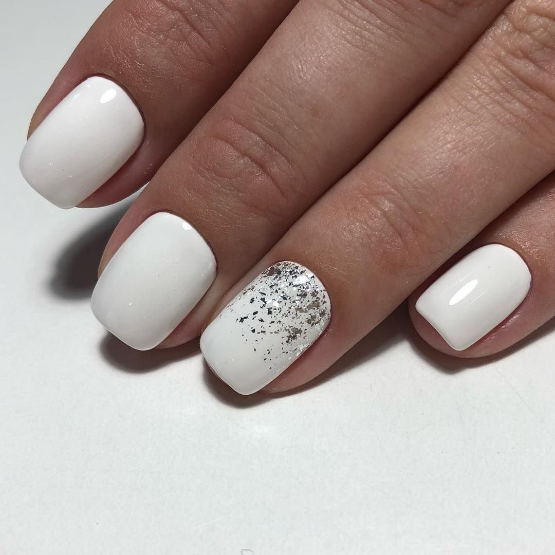 Белый дизайн ногтей картинки