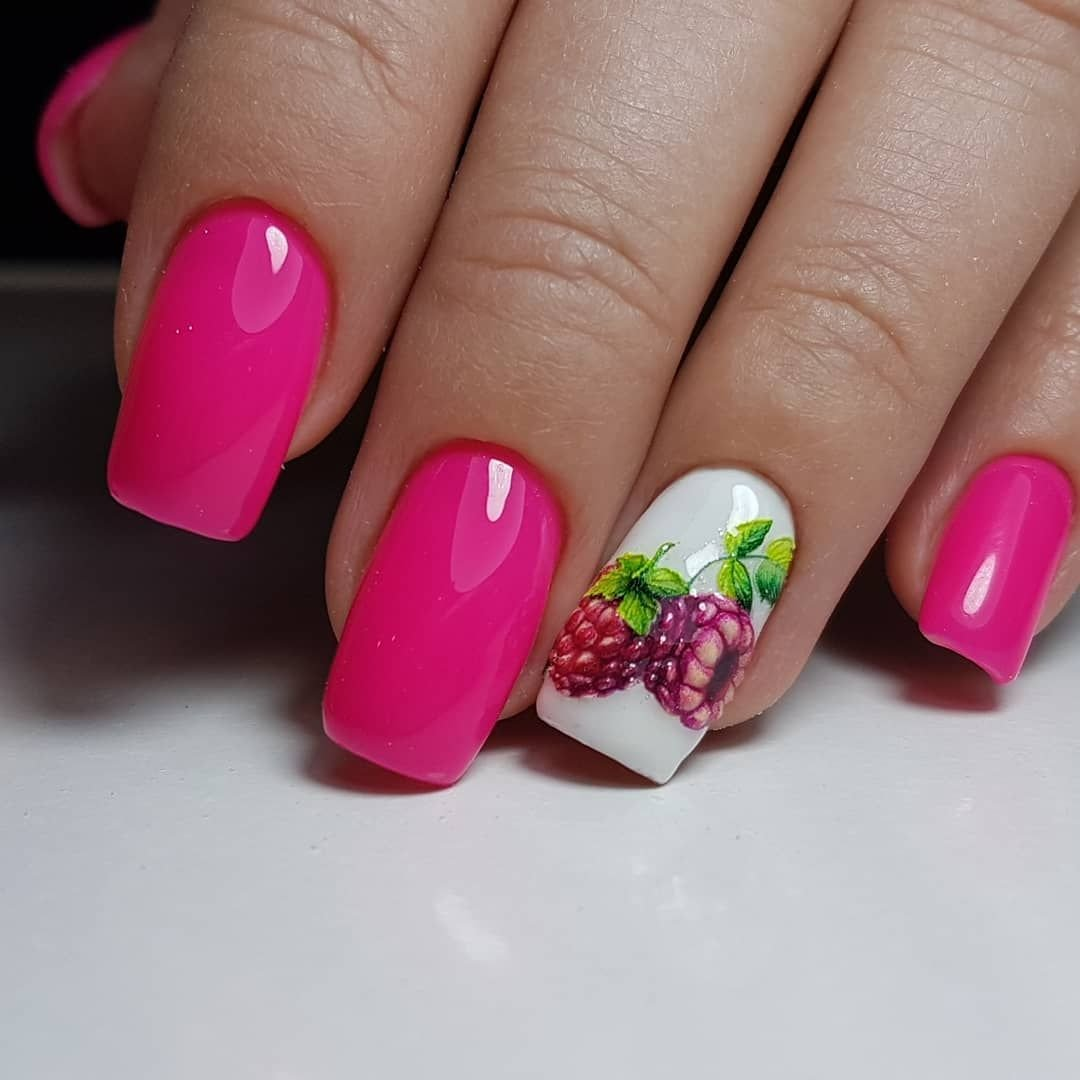 Дизайн ногтей фрукты ягоды фото