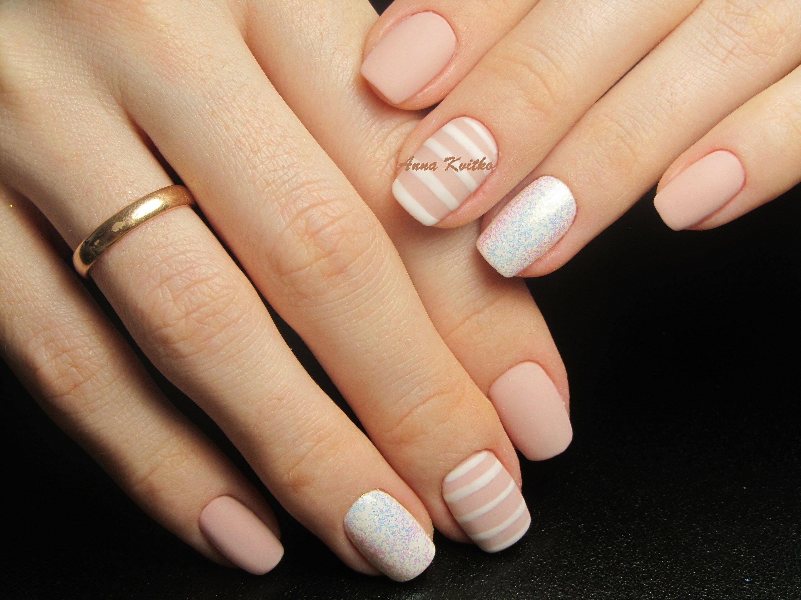 фото ногтей светлых оттенков