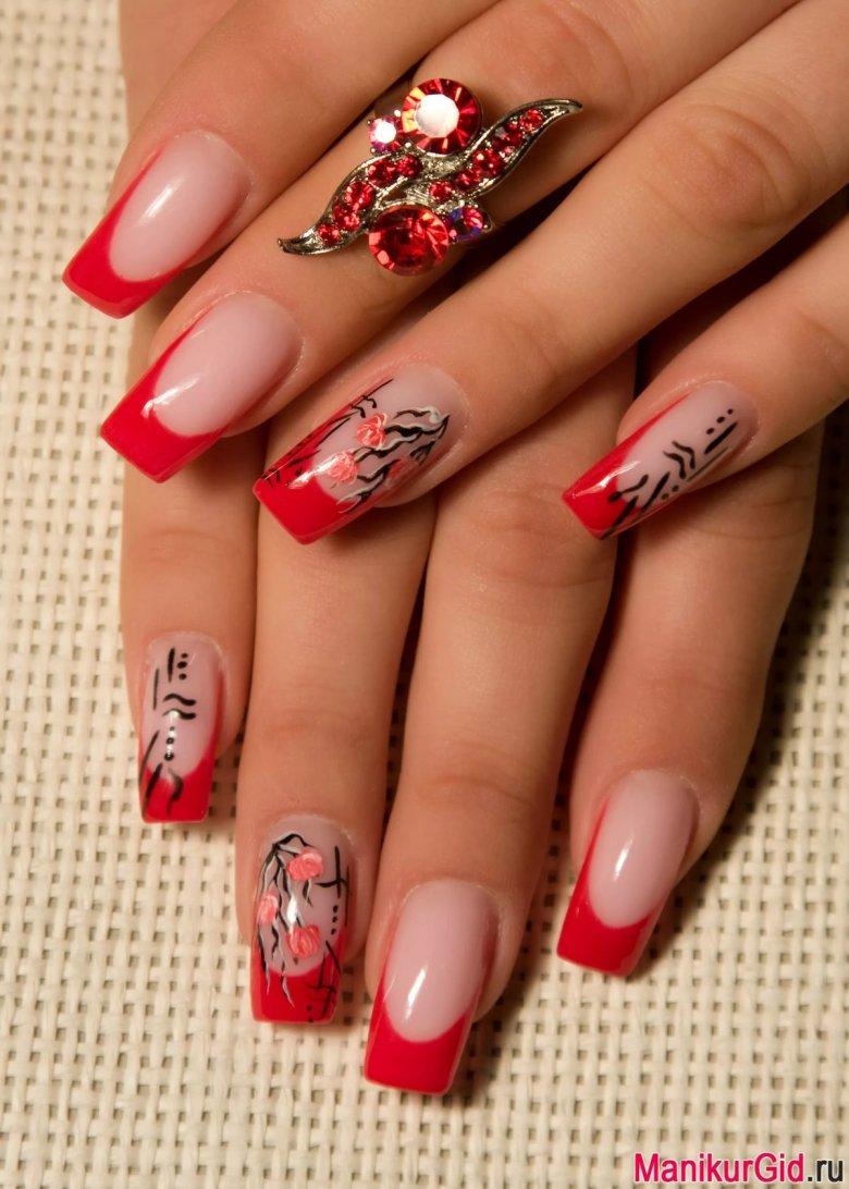 Картинки ногти красные с рисунком