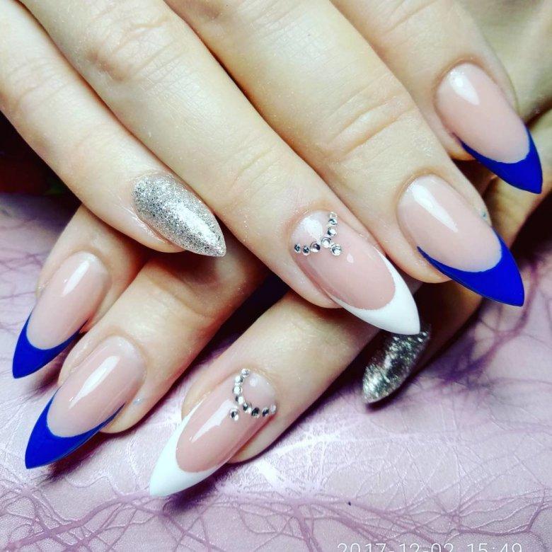 Красивые рисунки на острых ногтях фото отличие