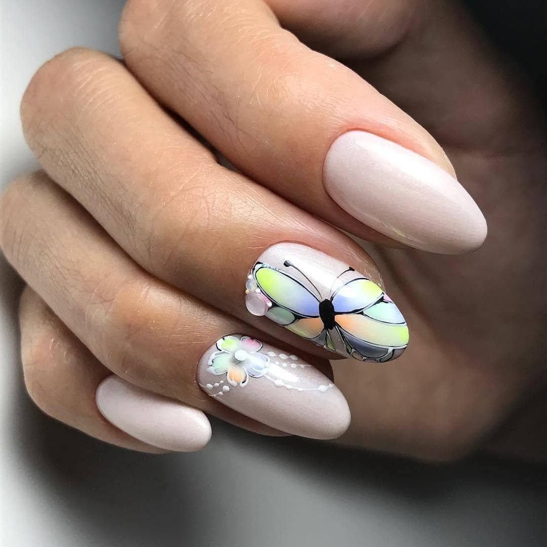маникюр стрекоза из камней на ногтях фото дома нормальный вариант