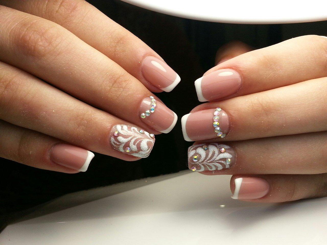 картинки ногтей свадебный френч