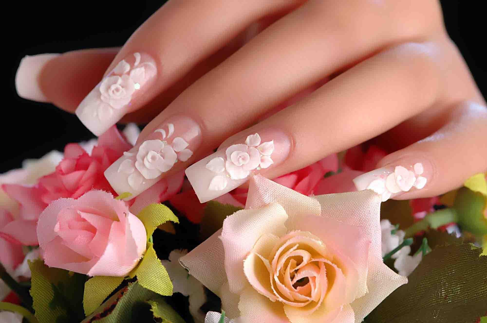 Картинки ногтей лепкой