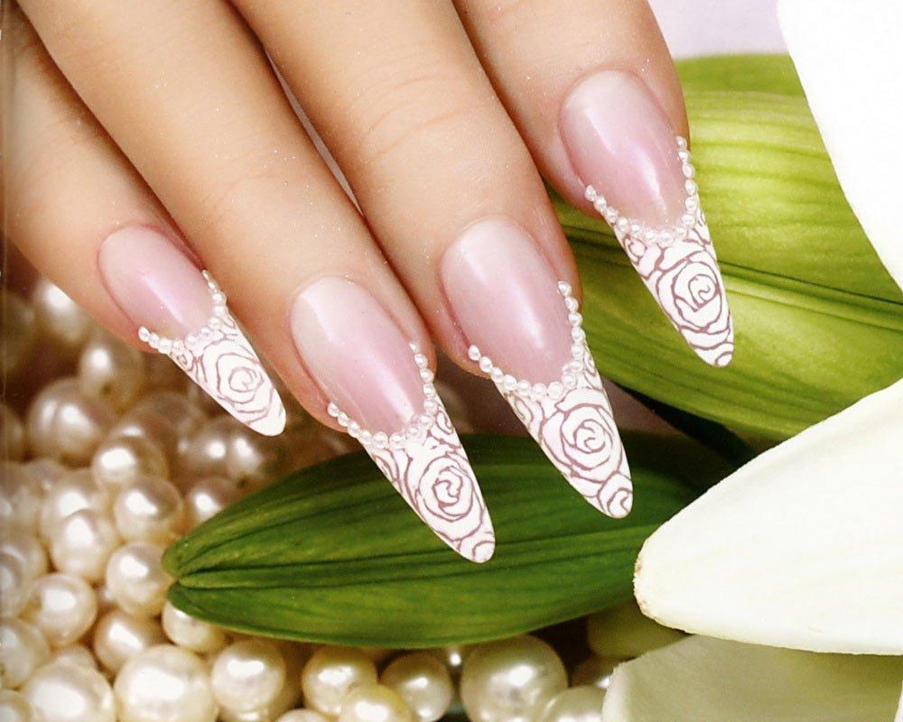 свадебные дизайны ногтей фото