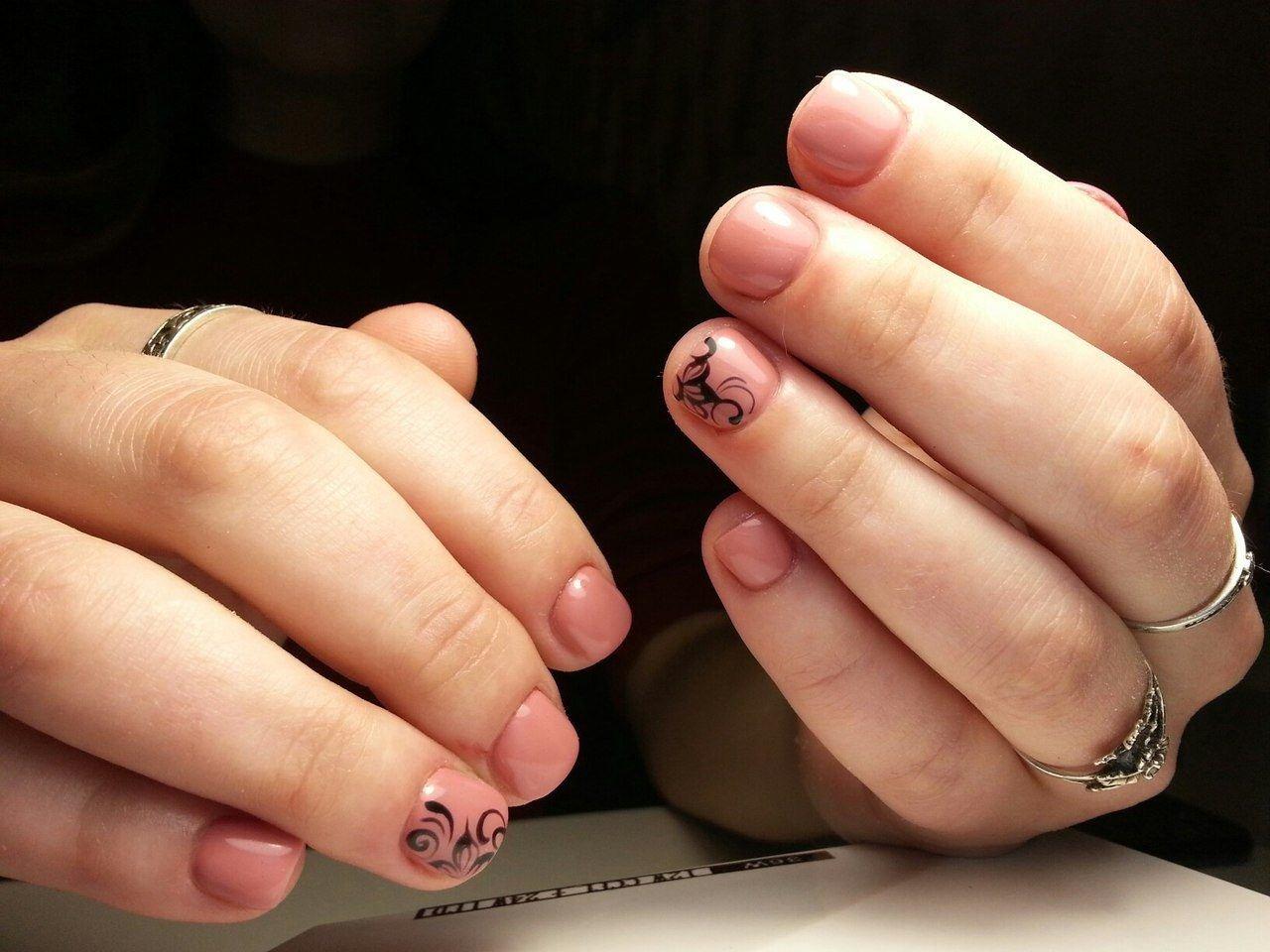 наверно маникюр если нет ногтей фото неона