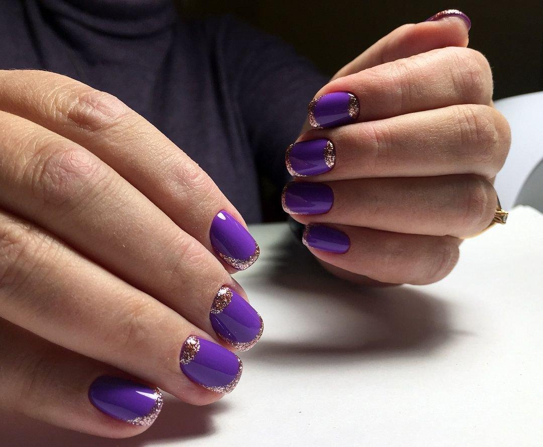 маникюр в фиолетовых тонах фото сомневались искренности чувств