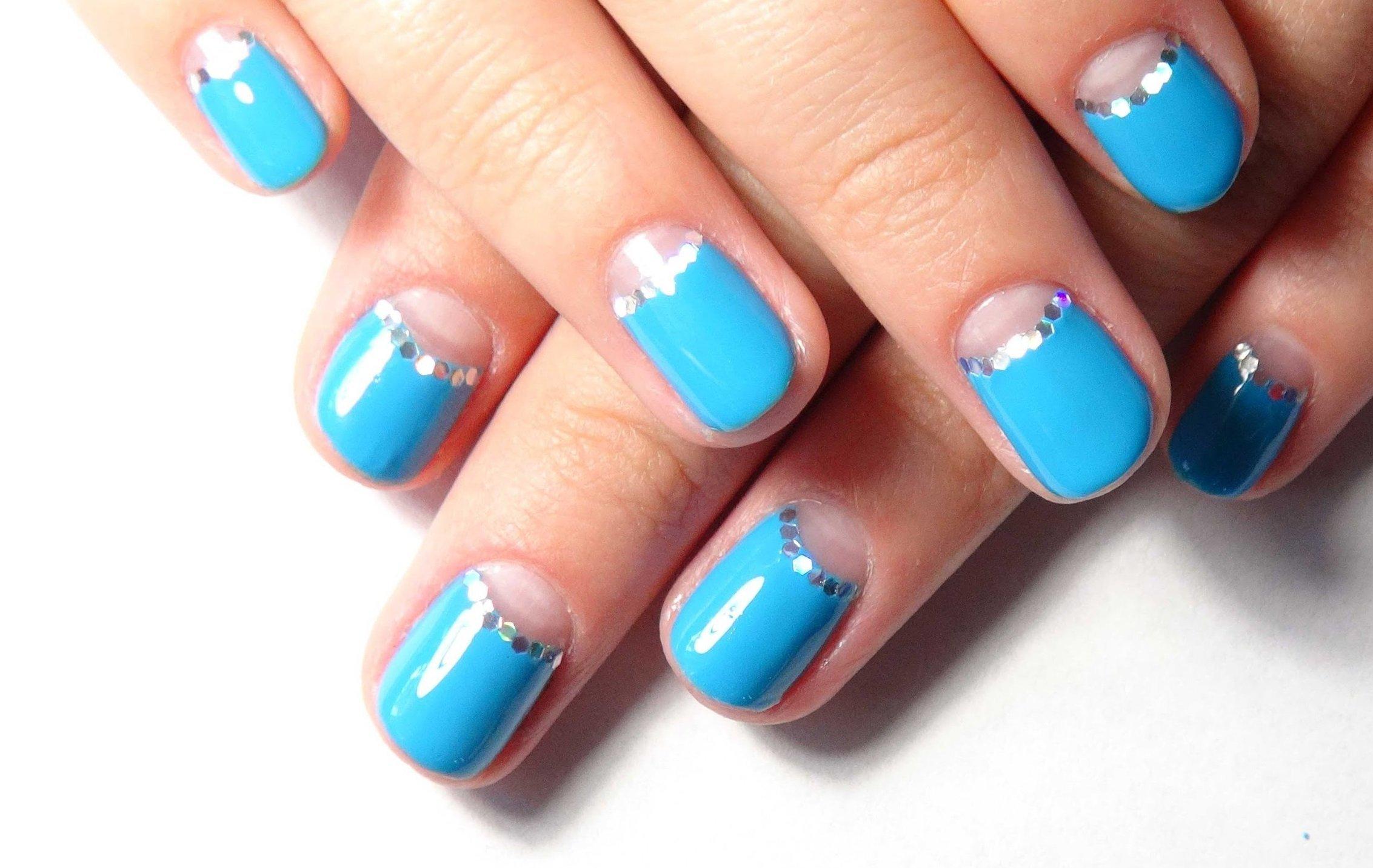 картинки ногтей простой дизайн голубые тона личное эфирное поле-тело