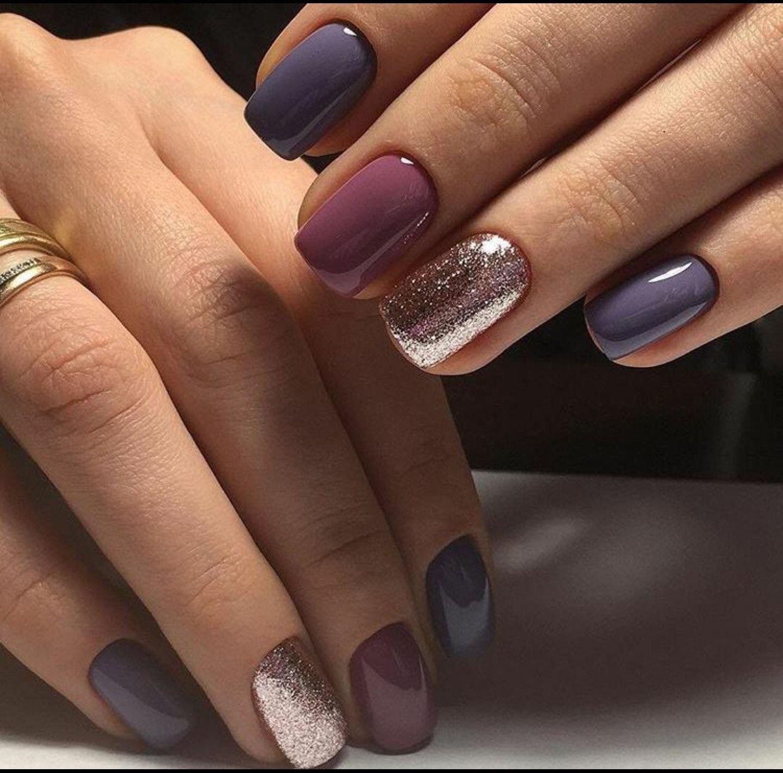 последнее ногти разных цветов сочетание фото занимаются