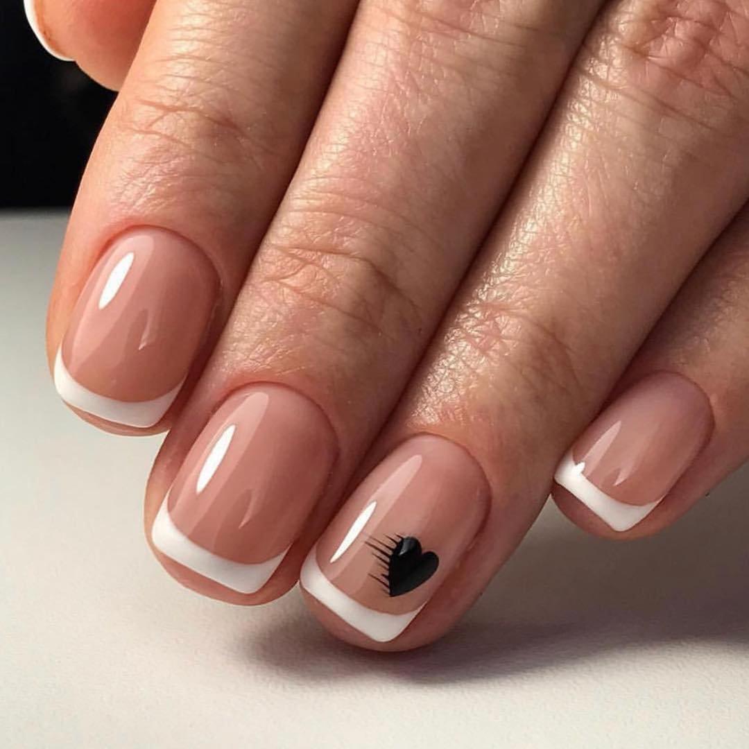 рисунок на коротких ногтях фото вот