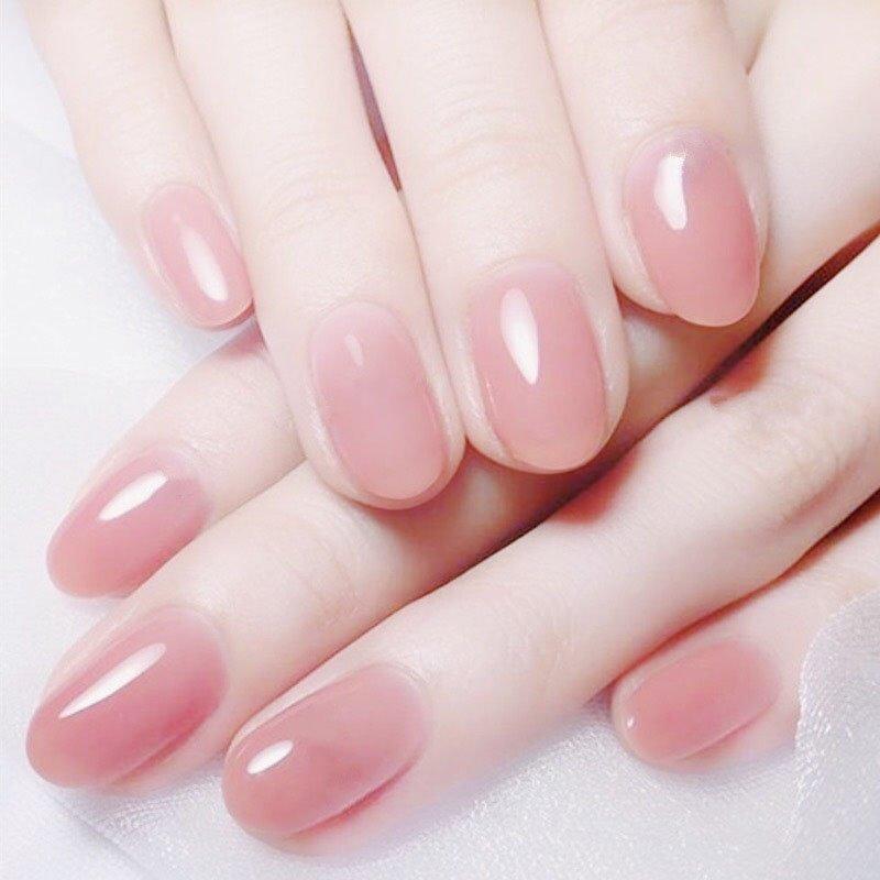 Фото круглых ногтей с гель лаком