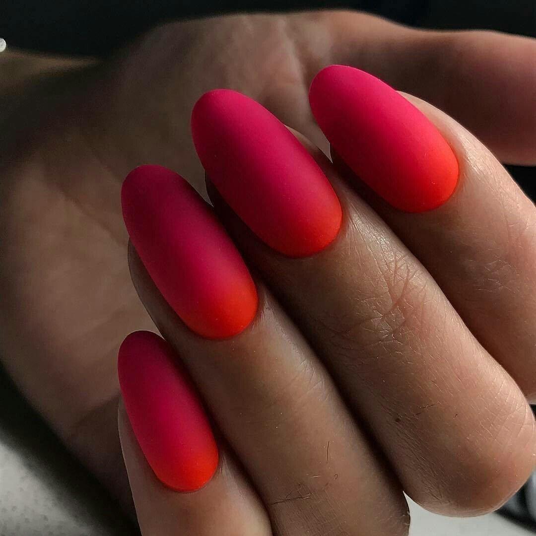 Фото матовые красные ногти