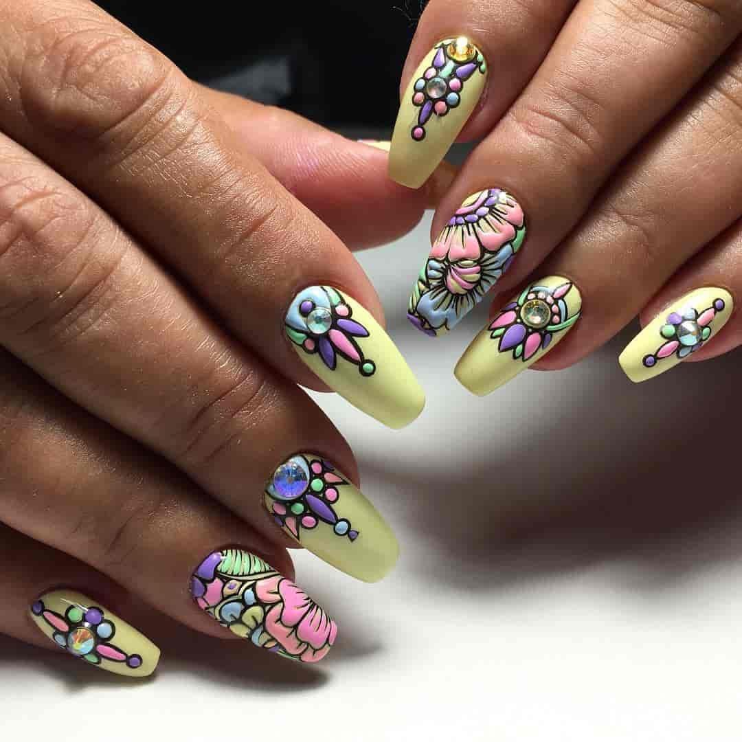 Рисунки на ногтях картинки яркие