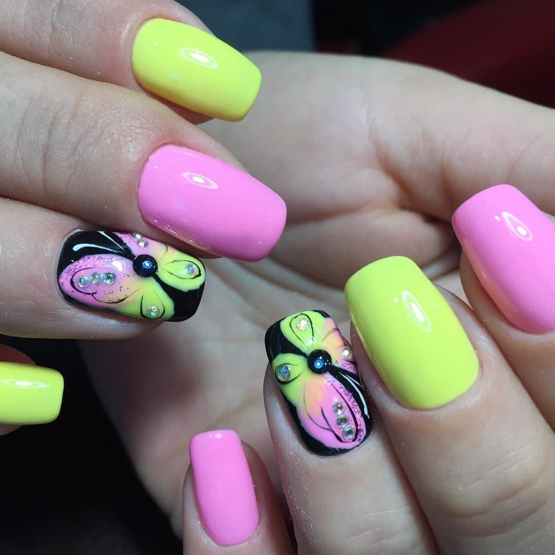 Картинки яркие ногти на лето