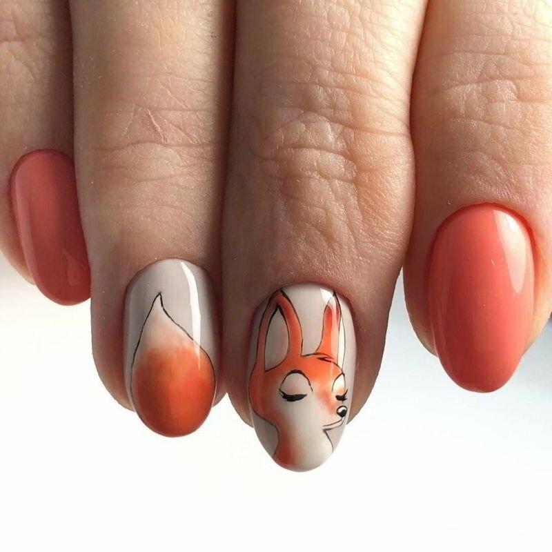 лисичка картинки с ногтями