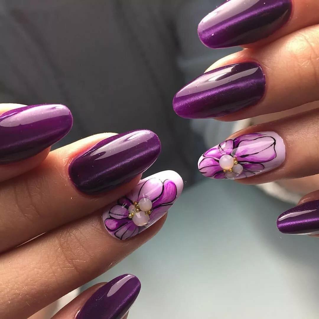 Красивые ногти с цветами фото