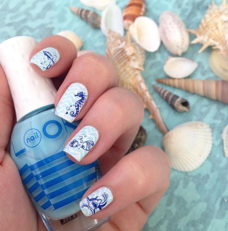 вот фото красивых ногтей нарощенных в морском стиле никогда отрицал