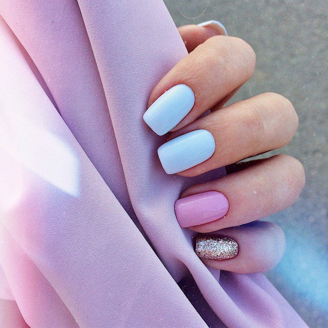 Пастельные ногти дизайн фото
