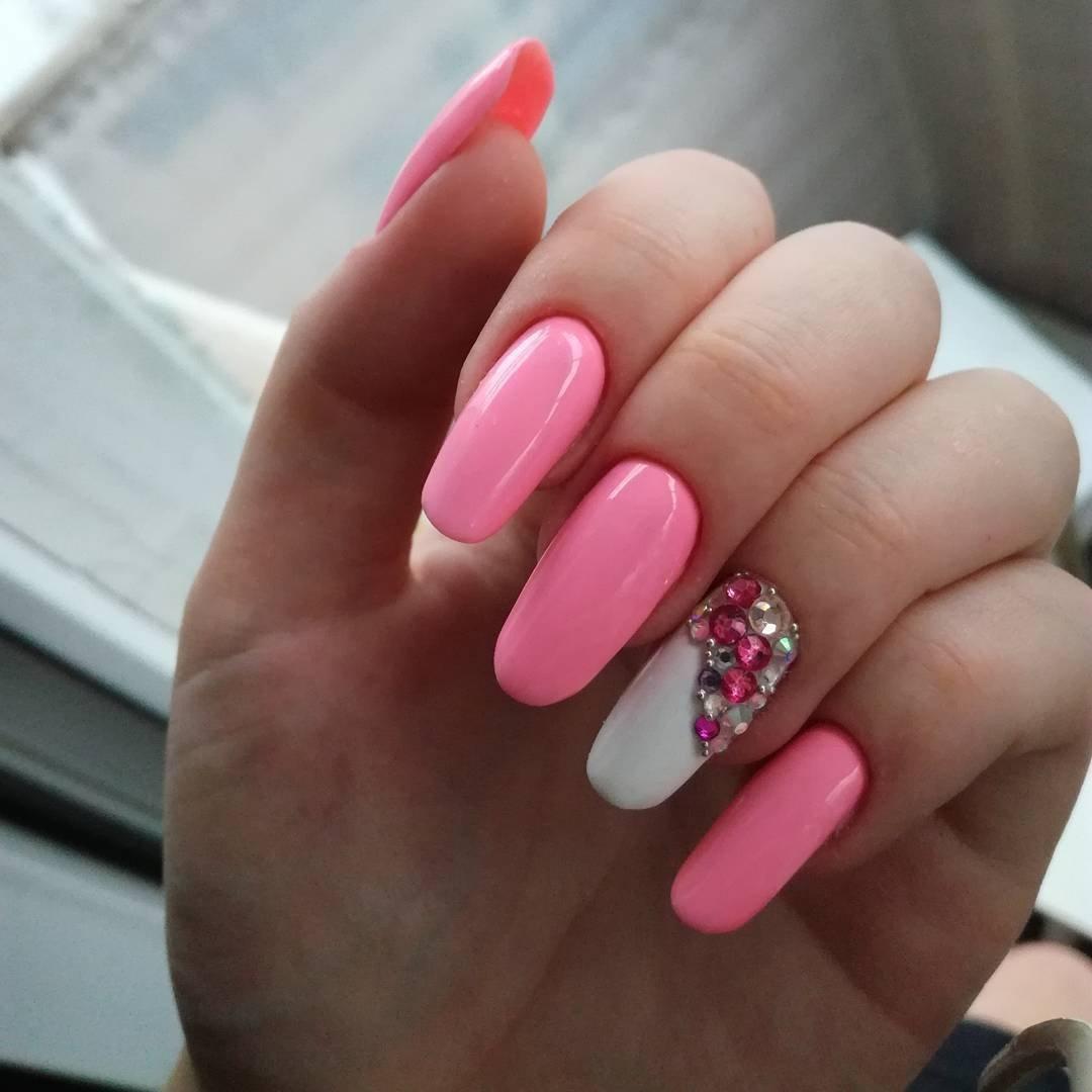 фото ногтей розовые с картинками лечения