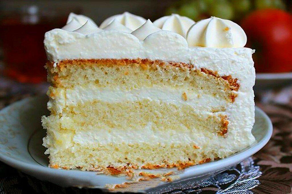 воздушный бисквитный торт рецепт с фото чем