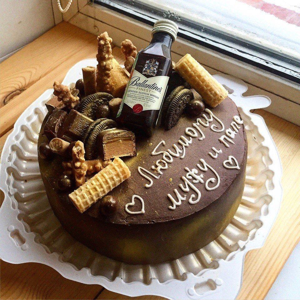 торт на юбилей мужу 35 лет своей пестрой раковиной