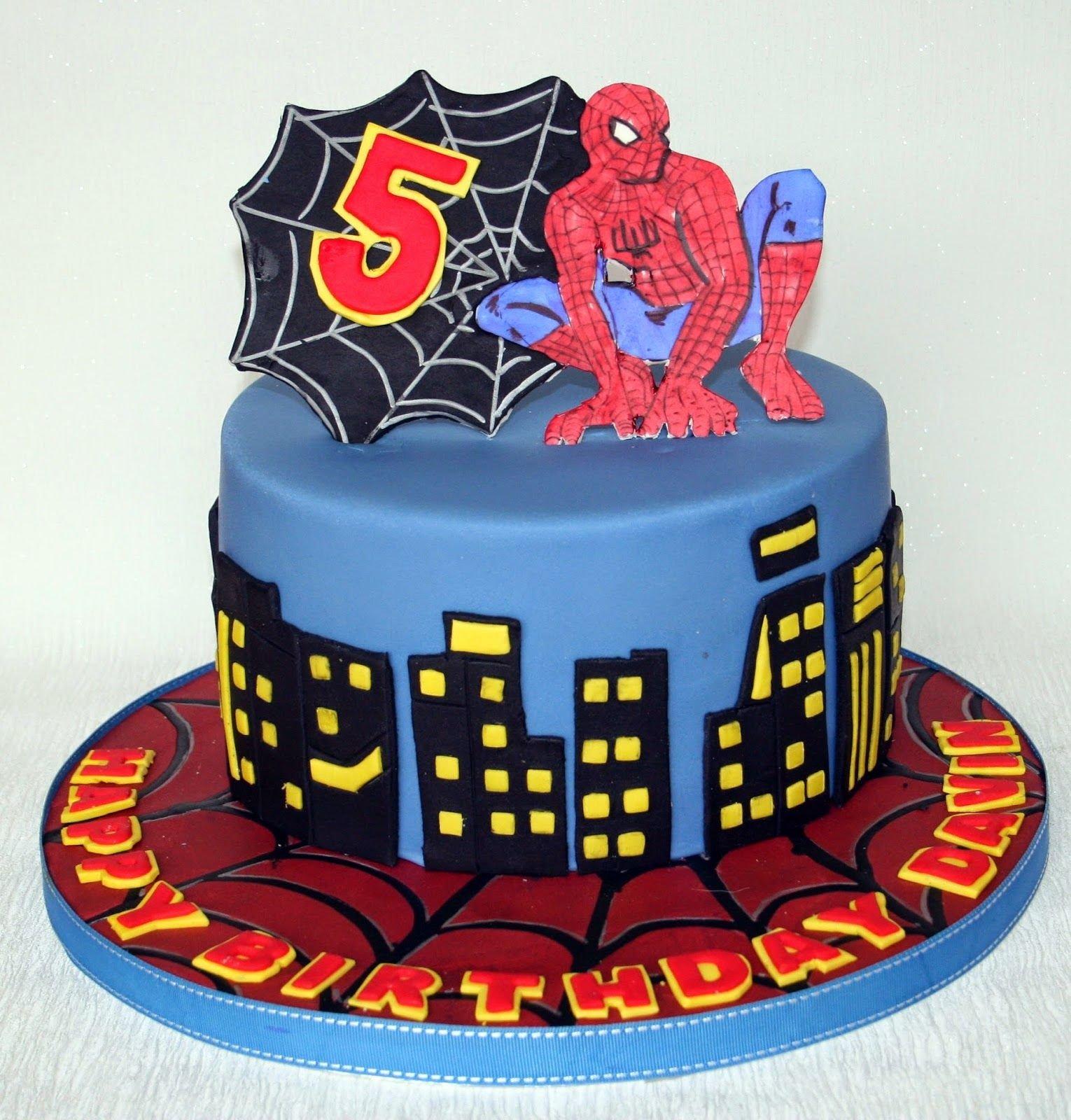 Торт со съедобной картинкой человек паук