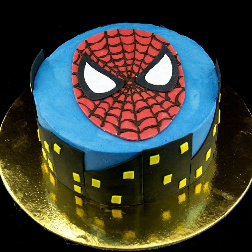 Картинки человека паука торт