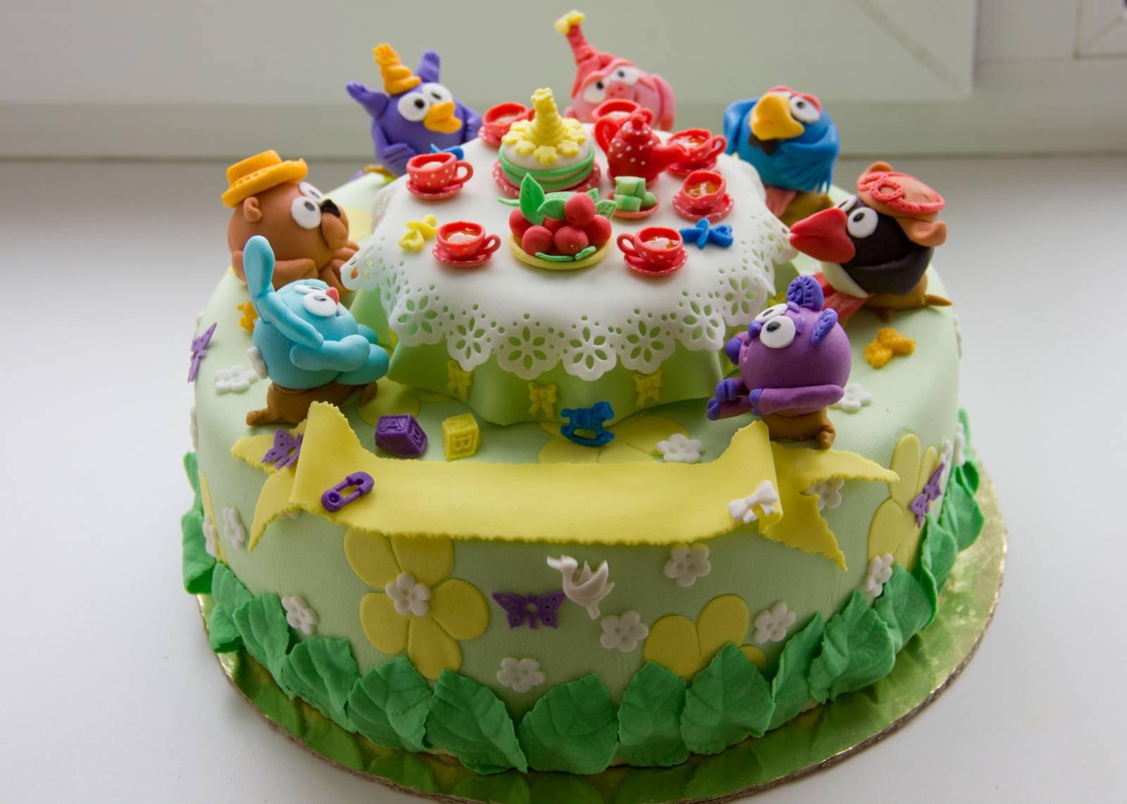 Фото и картинки детских тортов из мастики
