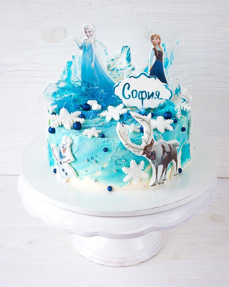 мужа фотка торт с эльзой из холодного сердца фото вкусный