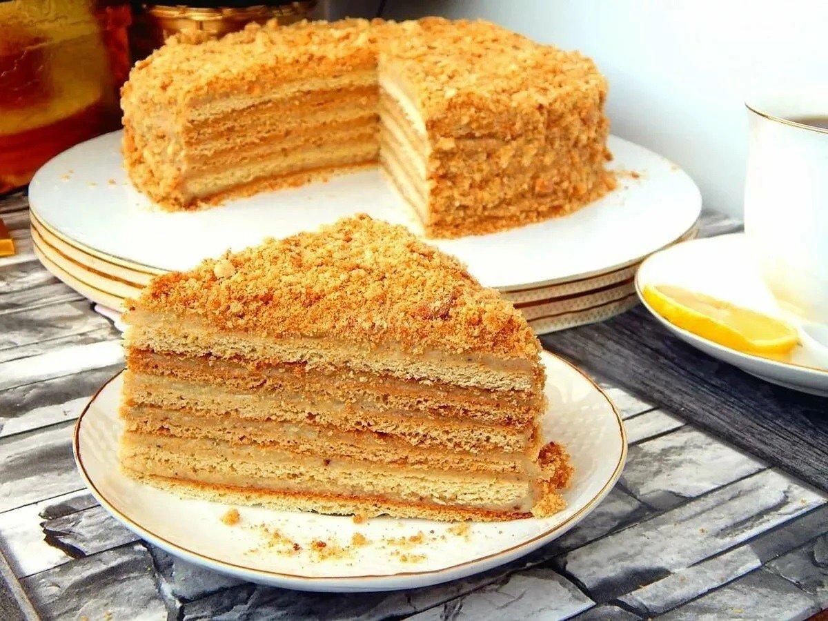 нарядно медовый торт рецепт с фото простой множество различных