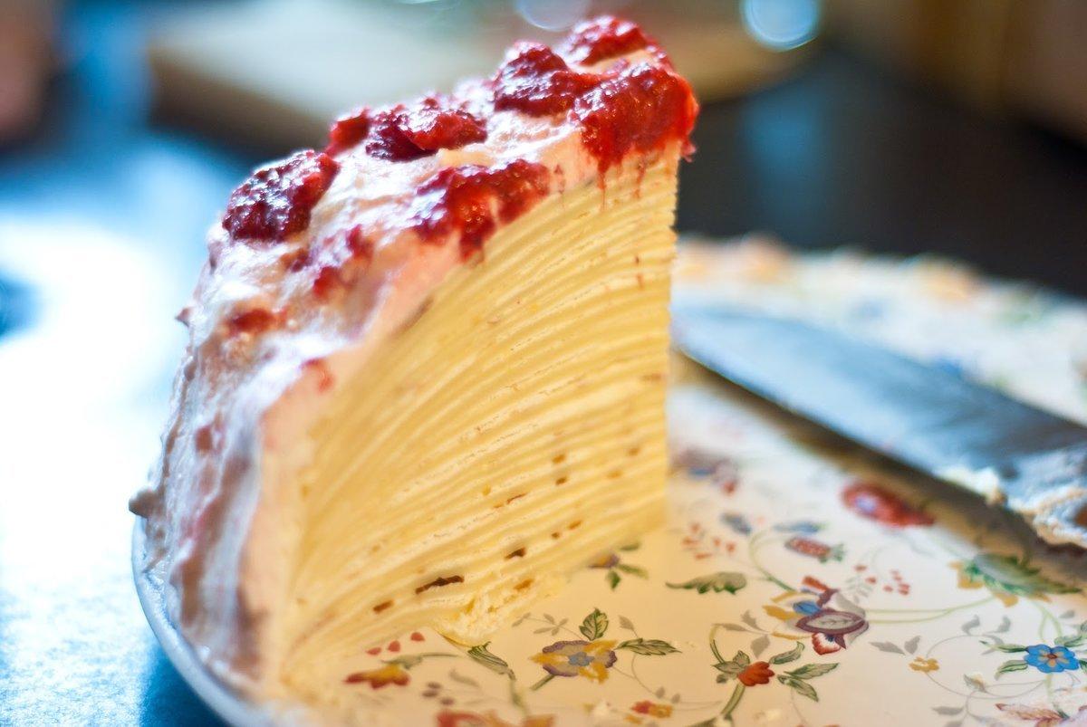Блинный торт сладкий рецепт с фото простой