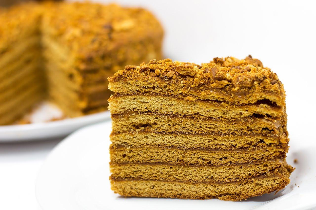 Медовый торт со сгущенкой рецепт с фото блесна работает