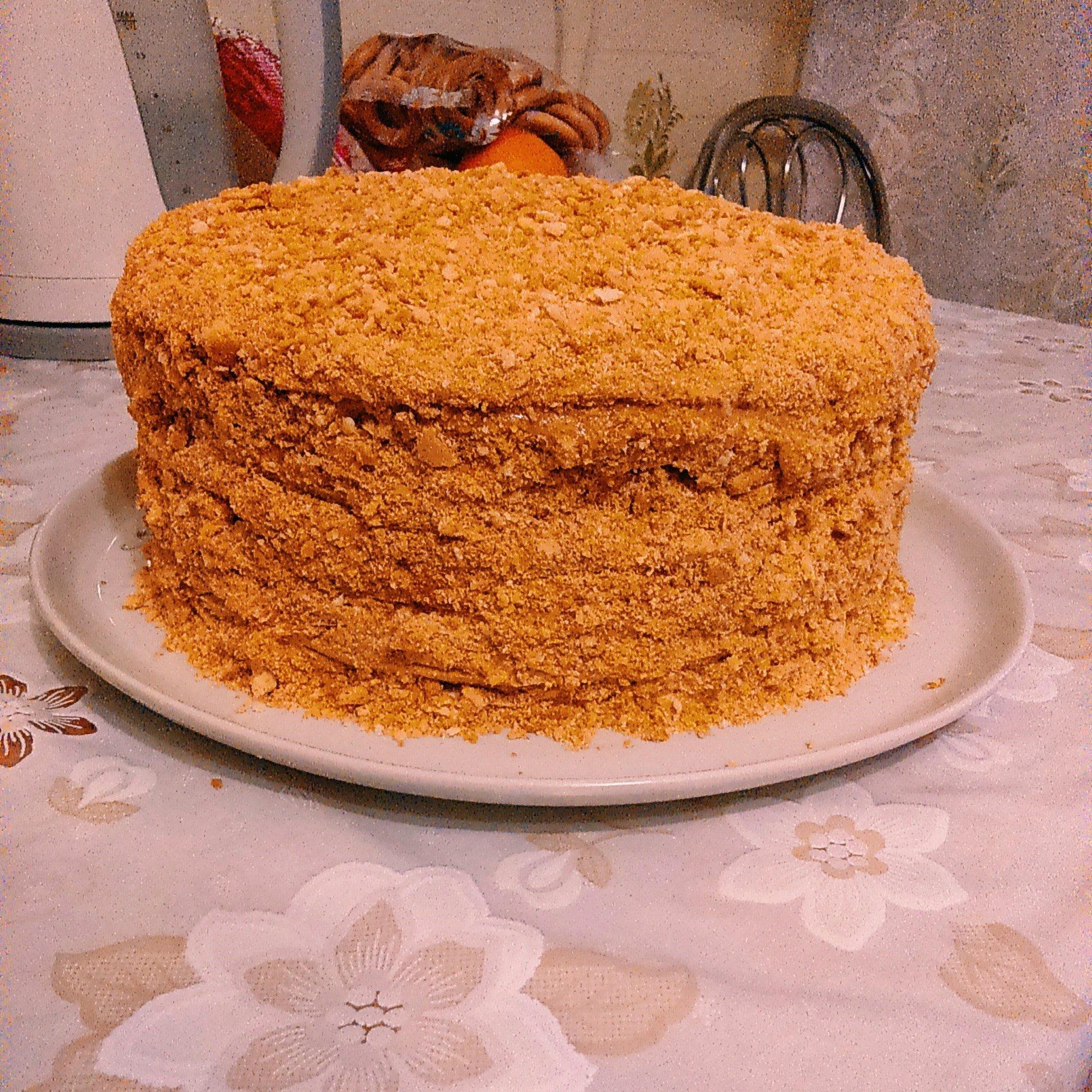 медовый торт рецепт с фото простой год это праздник