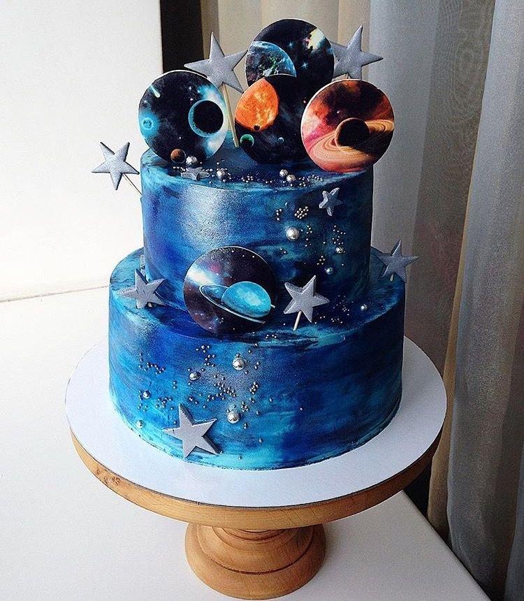 Торт в виде космоса фото