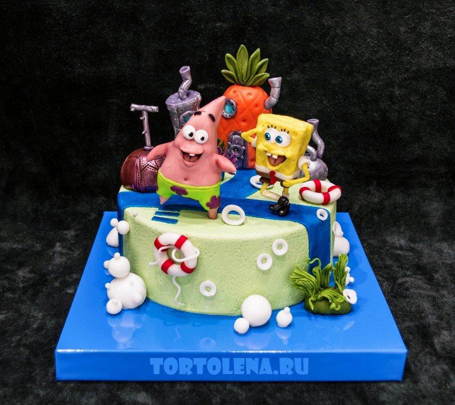 торт в форме губки боба фото статье приводятся
