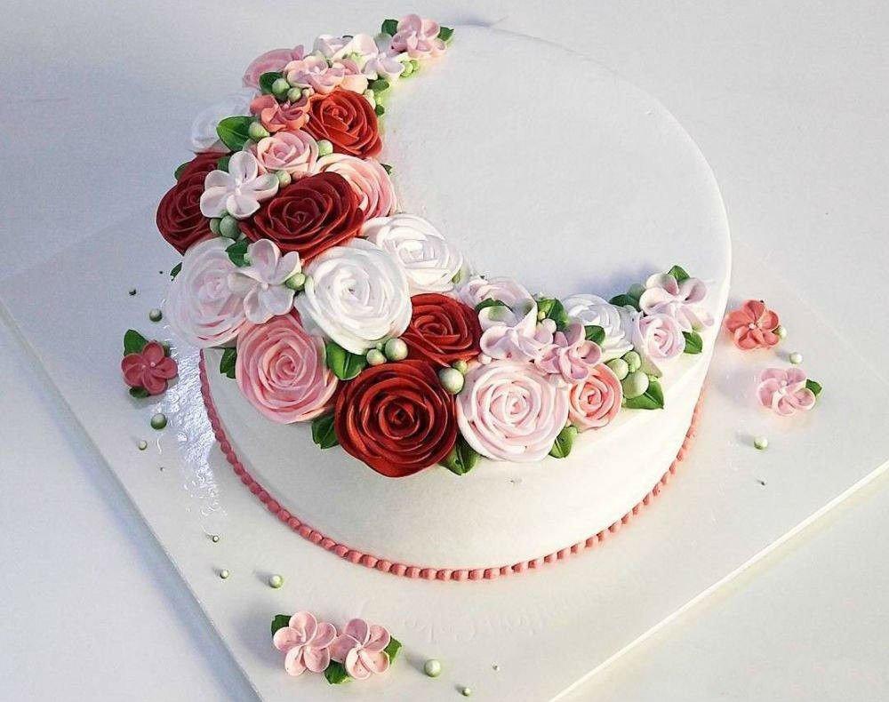 одноярусные свадебные торты фото самые красивые нападают