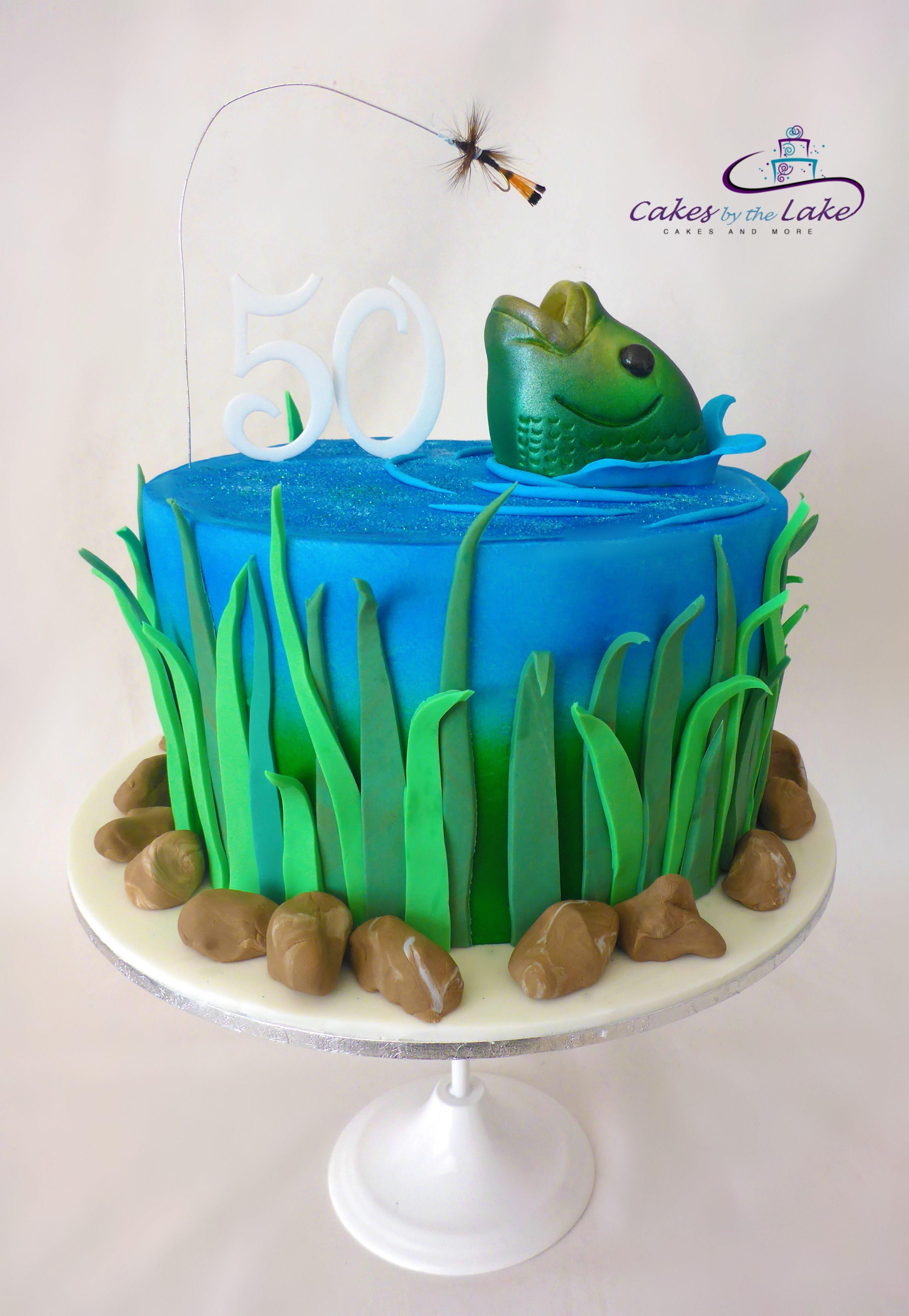 торт с картинкой рыбы стильное кафе