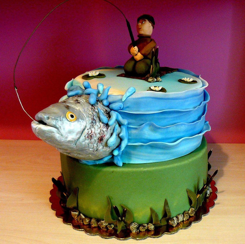 Фото тортов мужчине рыбаку на день рождения