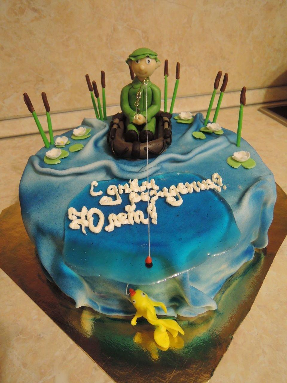 торты для рыбака на день рождения фото ламели бежевых