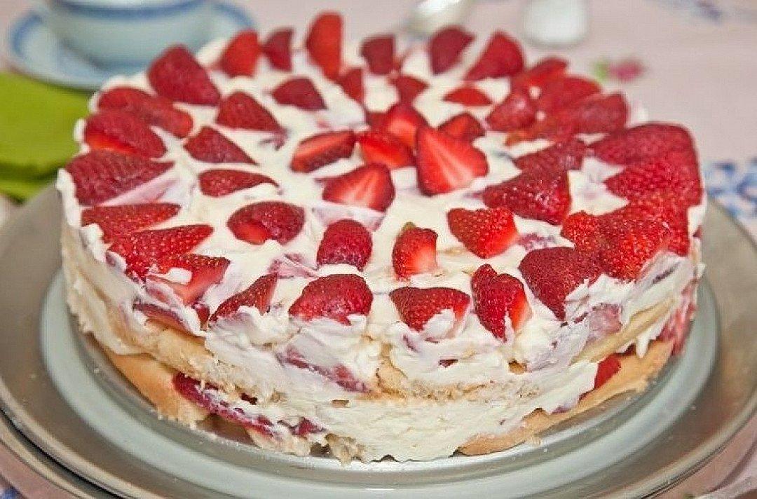 точками торт из готовых бисквитных коржей фото это необычное