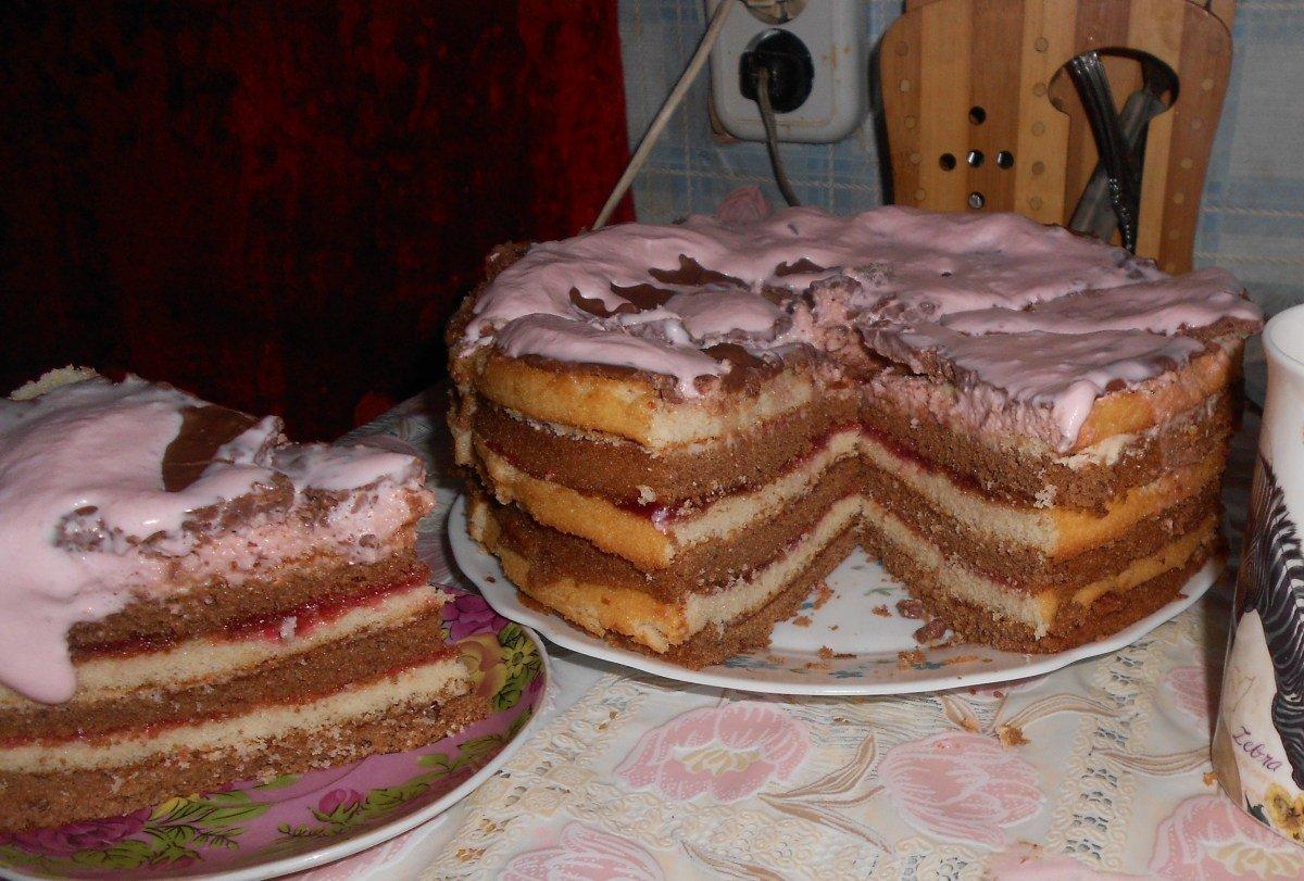 тело торт из готовых бисквитных коржей фото только можно, нужно