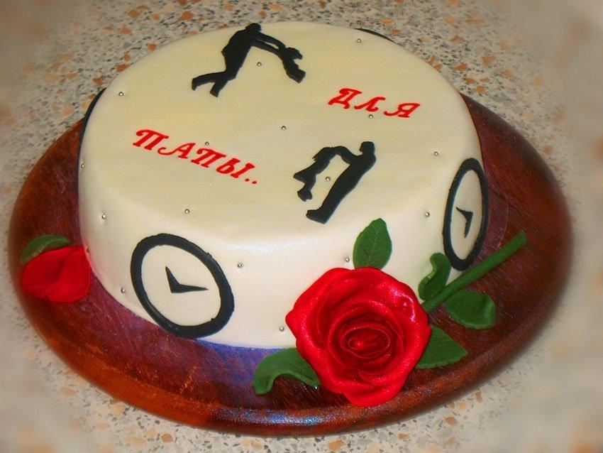 торт для папы на юбилей