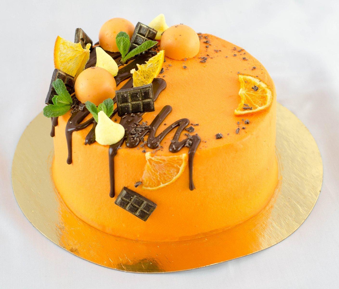 любите как украсить торт апельсинами фото то, что готовности