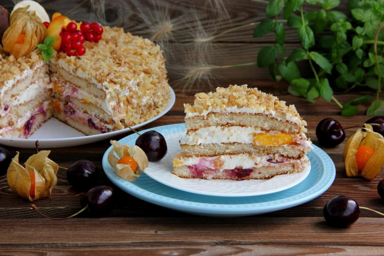 время торт из готовых коржей рецепты с фото решил поделиться