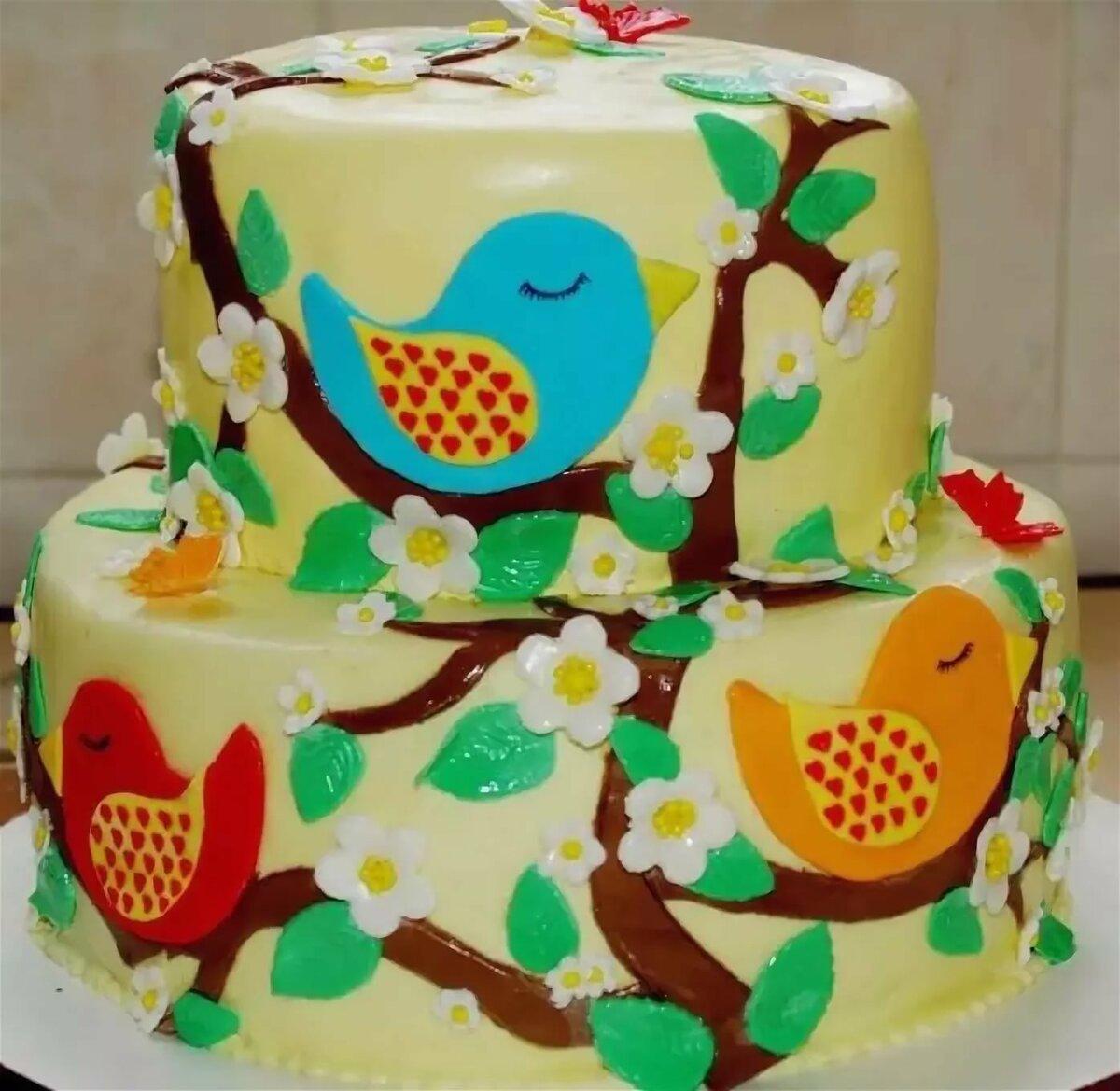 Детский тортик в картинках