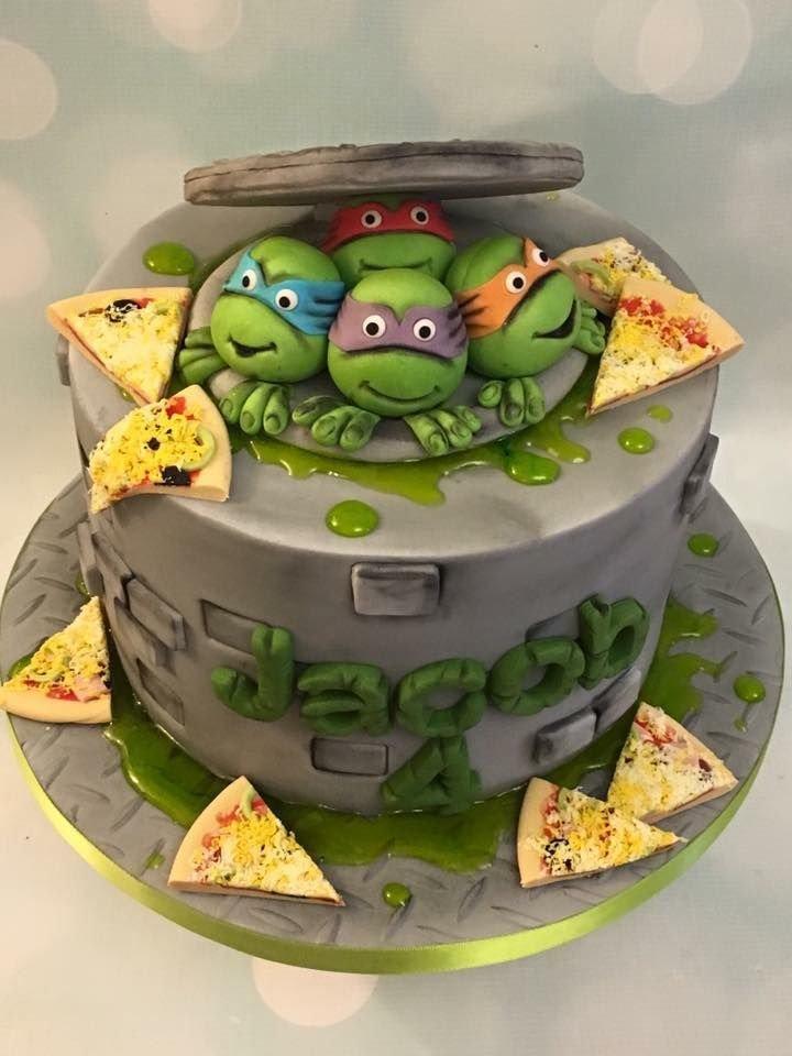 Торт с картинками черепашек ниндзя