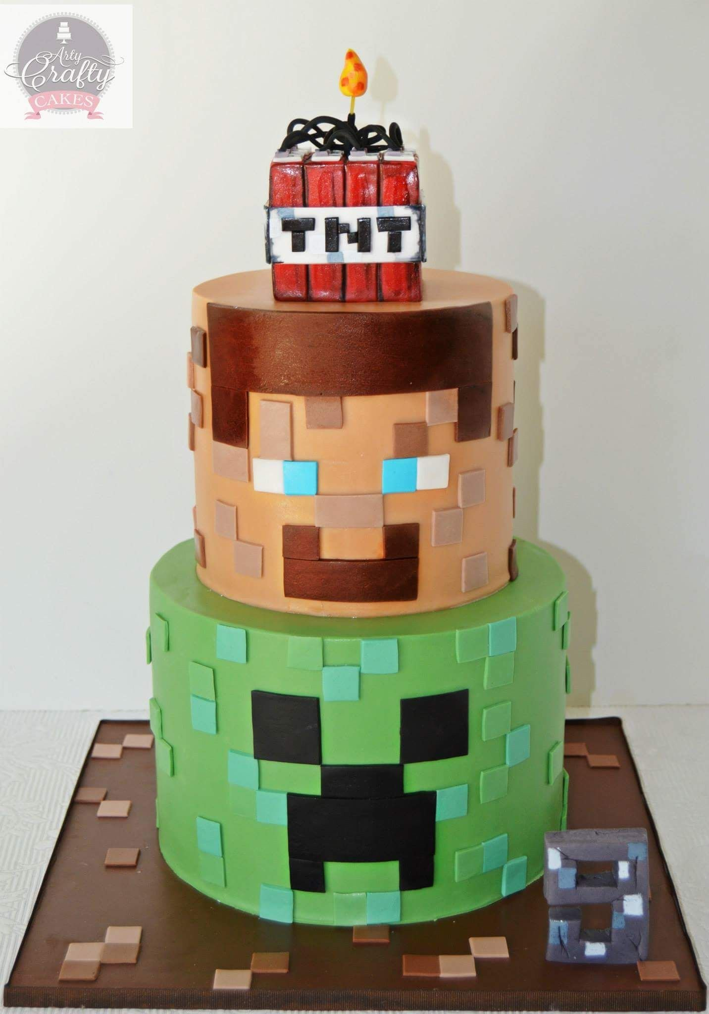 торт майнкрафт на день рождения #7