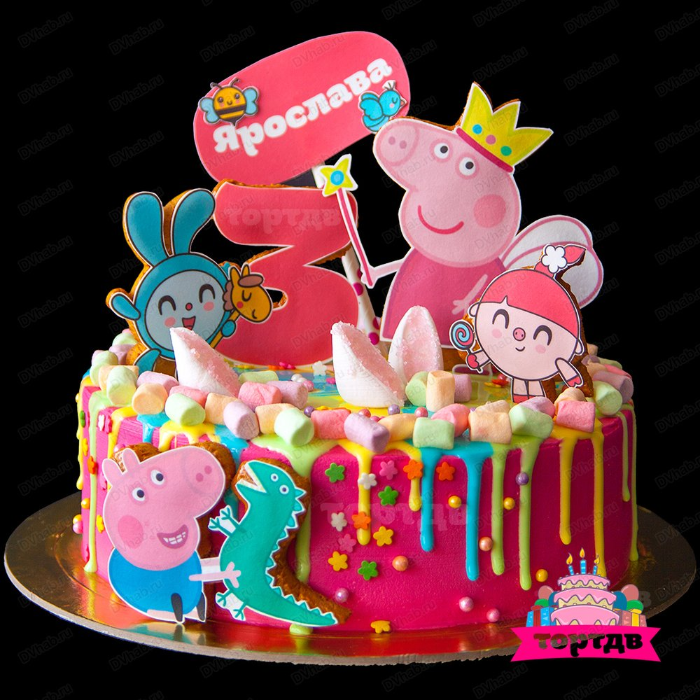 картинка свинка пеппа на торт фото